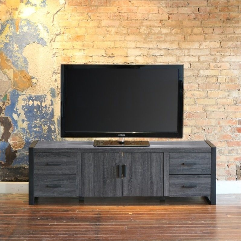 70 Charcoal Grey Wood Tv Stand W70ubc22cl