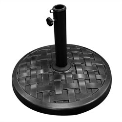 Round Umbrella Base in Black
