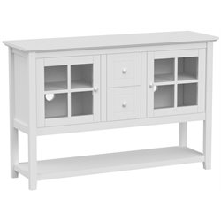 53'' Wood Console Table TV Stand in White