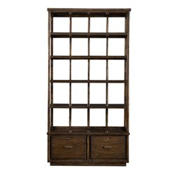 Stanley Furniture Santa Clara 5 Shelf Lateral File Bookcase in Walnut