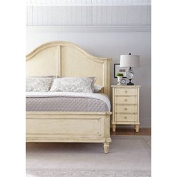 Stanley Furniture European Cottage 2 Piece King Panel Bed Set in White