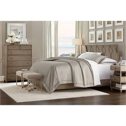 Virage 4 Piece King Panel Bedroom Set in Basalt