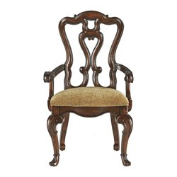 Stanley Furniture Grand Continental Florentine Fabric Arm Chair in Antique Terra Finish