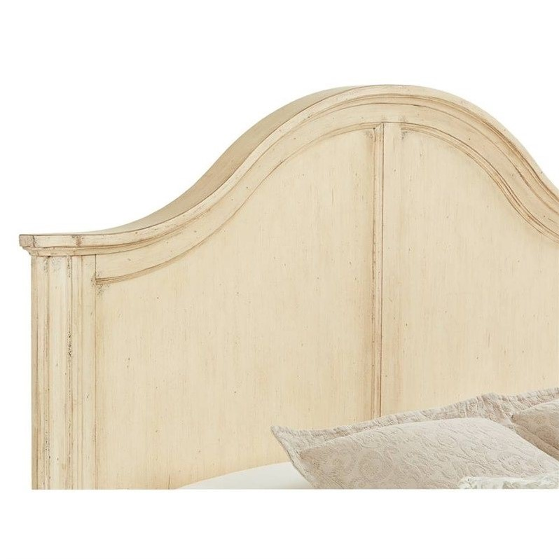 Stanley Furniture European Cottage Queen Panel Bed in Vintage White