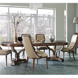 Stanley Avalon Heights Art Epoch Pedestal Dining Table in Chelsea