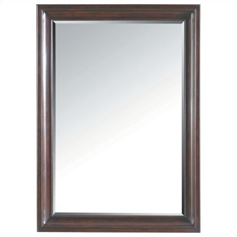 Stanley Furniture Transitional Landscape Mirror in Polished Sable