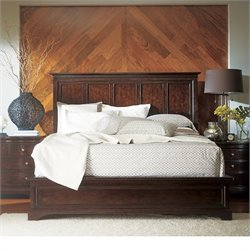 Transitional Panel Bed in Polished Sable