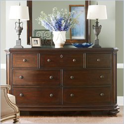 Stanley Furniture Continental Triple Dresser in Barrel