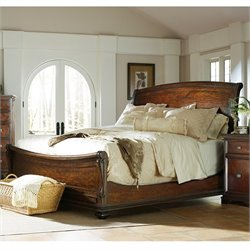 Continental Sleigh Bed in Barrel
