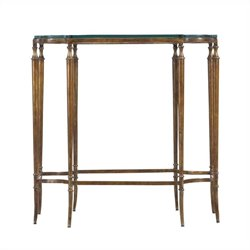 Stanley Arrondissement Soiree Glass Top Side Table in Heirloom Cherry