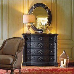 Stanley Furniture Epoque Dresser and Mirror Set in Rustic Charcoal