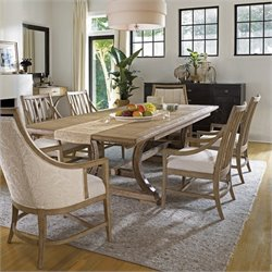 Stanley Furniture Shelter Bay 7 Piece Dining Set in Weathered Pier