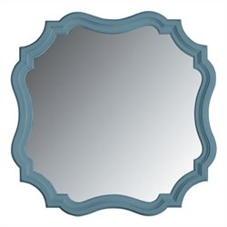 Stanley Furniture Coastal Living Cottage Piecrust Mirror in Wave