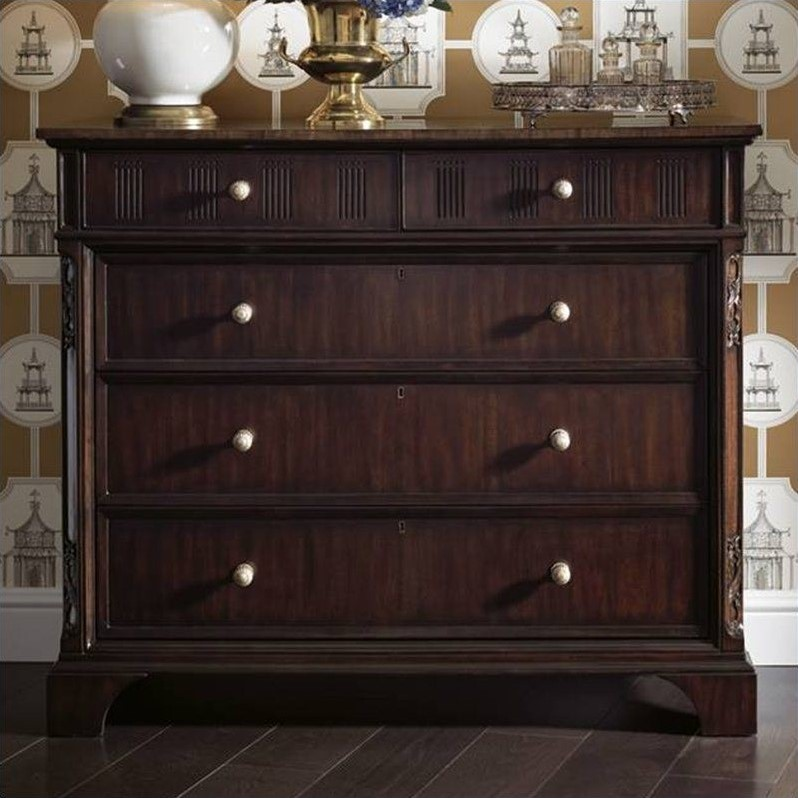 Stanley Charleston Regency Franklin Media Chest in Classic Mahogany