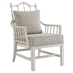 Stanley Charleston Regency Chippendale Planter's Arm Chair in White