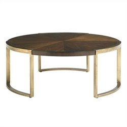 Stanley Furniture Crestaire Autry Round Cocktail Table in Porter