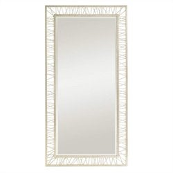 Stanley Furniture Crestaire Palm Canyon Floor Mirror in Argent