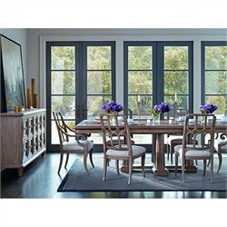 Stanley Furniture Archipelago Calypso 7-Piece Dining Set in Shoal