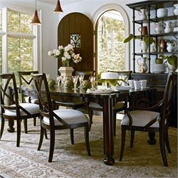 Stanley Furniture European Farmhouse 7 Piece Dining Set in Terrain