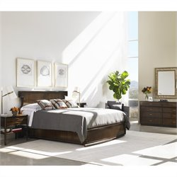Stanley Furniture Crestaire 4-Piece Bedroom Set in Porter with Mirror