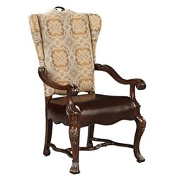 Stanley Furniture Casa D'Onore Upholstered Arm Dining Chair in Sella