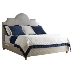 Coastal Living Retreat Upholstered Bed in Heron Grey