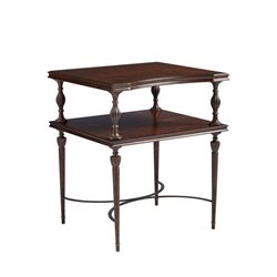 Stanley Villa Couture Catarina End Table in Mottled Walnut
