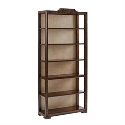 Stanley Villa Couture Viviana 6 Shelf Bookcase in Mottled Walnut