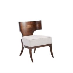 Stanley Villa Couture Dario Accent Chair in Mottled Walnut