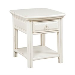 American Drew Siesta Sands End Table in White Sands
