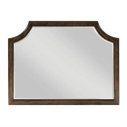American Drew Grantham Hall Landscape Mirror in Coffee