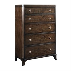 American Drew Grantham Hall 5 Drawer Chest in Coffee