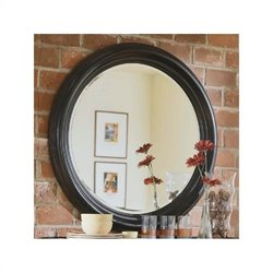 American Drew Camden Black Collection Round Mirror