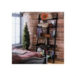 American Drew Camden Black Ladder Wall Storage Bookcase