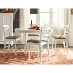 American Drew Lynn Haven 5 Piece Counter Height Dining Set in White