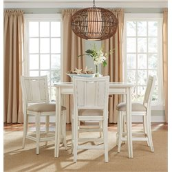 American Drew Siesta Sands 5 Piece Extendable Dining Set in White