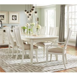 American Drew Siesta Sands 7 Piece Extendable Dining Set in White