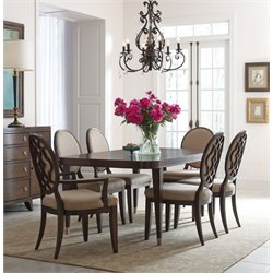 American Drew Grantham Hall 7 Piece Extendable Dining Set in Coffee