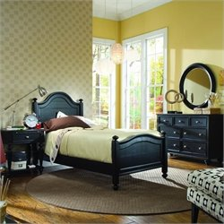 Camden Black Wood Panel Bedroom Set