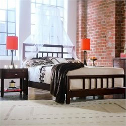 American Drew Tribecca Slat Bed and 2 Nightstands Bedroom Set