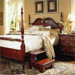 American Drew Cherry Grove Wood Low Poster Bed 3 Piece Bedroom Set