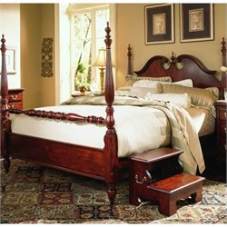American Drew Cherry Grove Wood Low Poster Bed 4 Piece Bedroom Set
