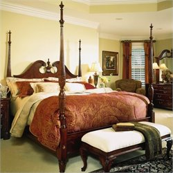 Cherry Grove Pediment Bedroom Set in Antique Cherry