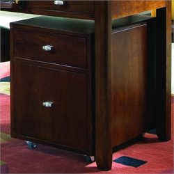 American Drew Tribecca 2 Drawer Lateral Wood File Caddy in Root Beer