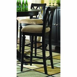 American Drew Camden Splat Back Stool in Black