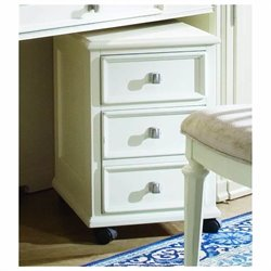 American Drew Camden Mobile 2 Drawer Wood File Cabinet in Buttermilk