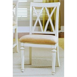 American Drew Camden Splat Back Dining Chair in Buttermilk