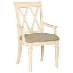 American Drew Camden Dining Arm Chair in Buttermilk