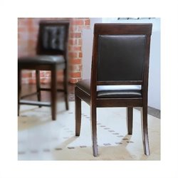 American Drew Tribecca Leather Dining Chair in Root Beer
