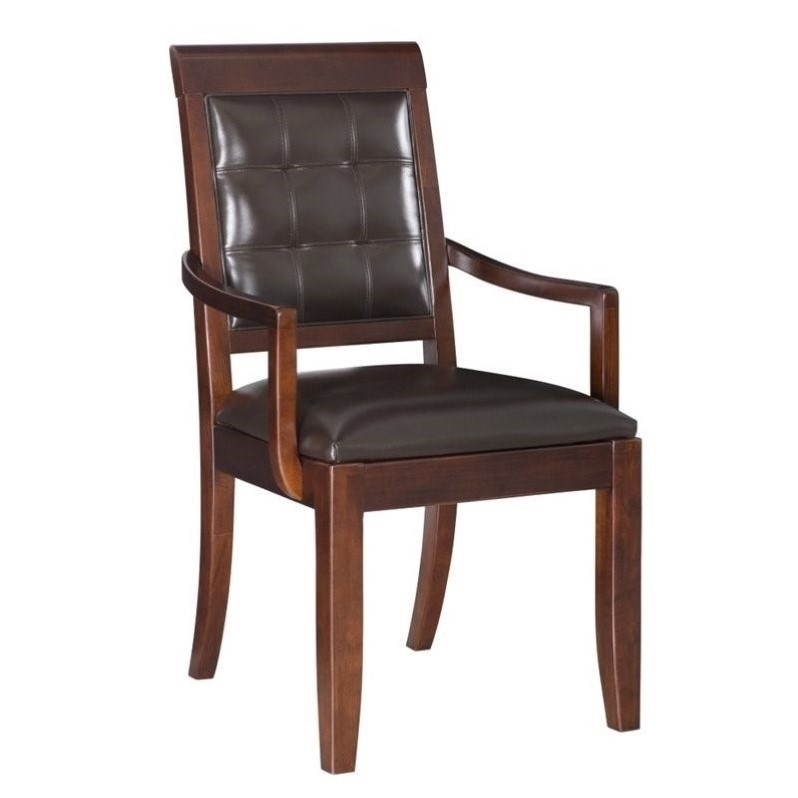 American Drew Tribecca Upholstered Leather Casual Arm